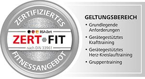 Zertifiziertes Fitnessangebot